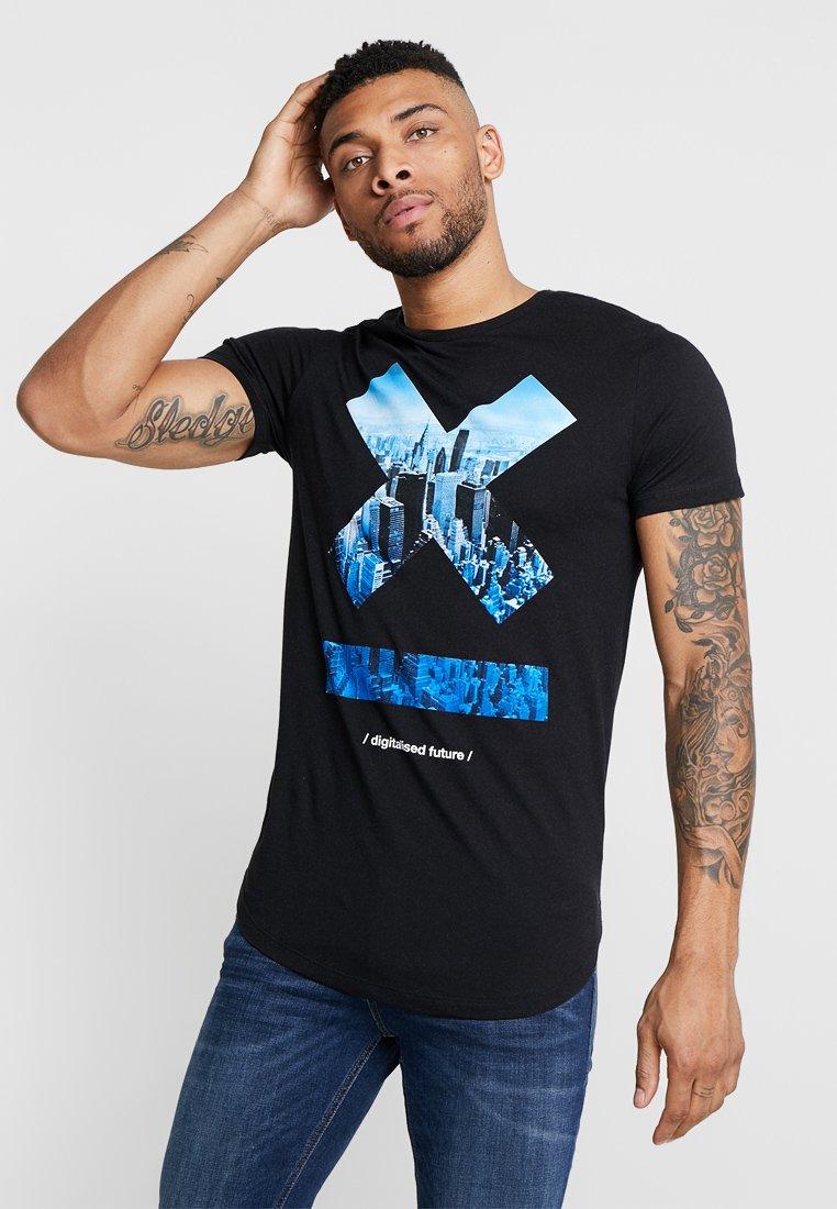 Jack & Jones - JCOTOMBE TEE CREW NECK - T-Shirt print - black