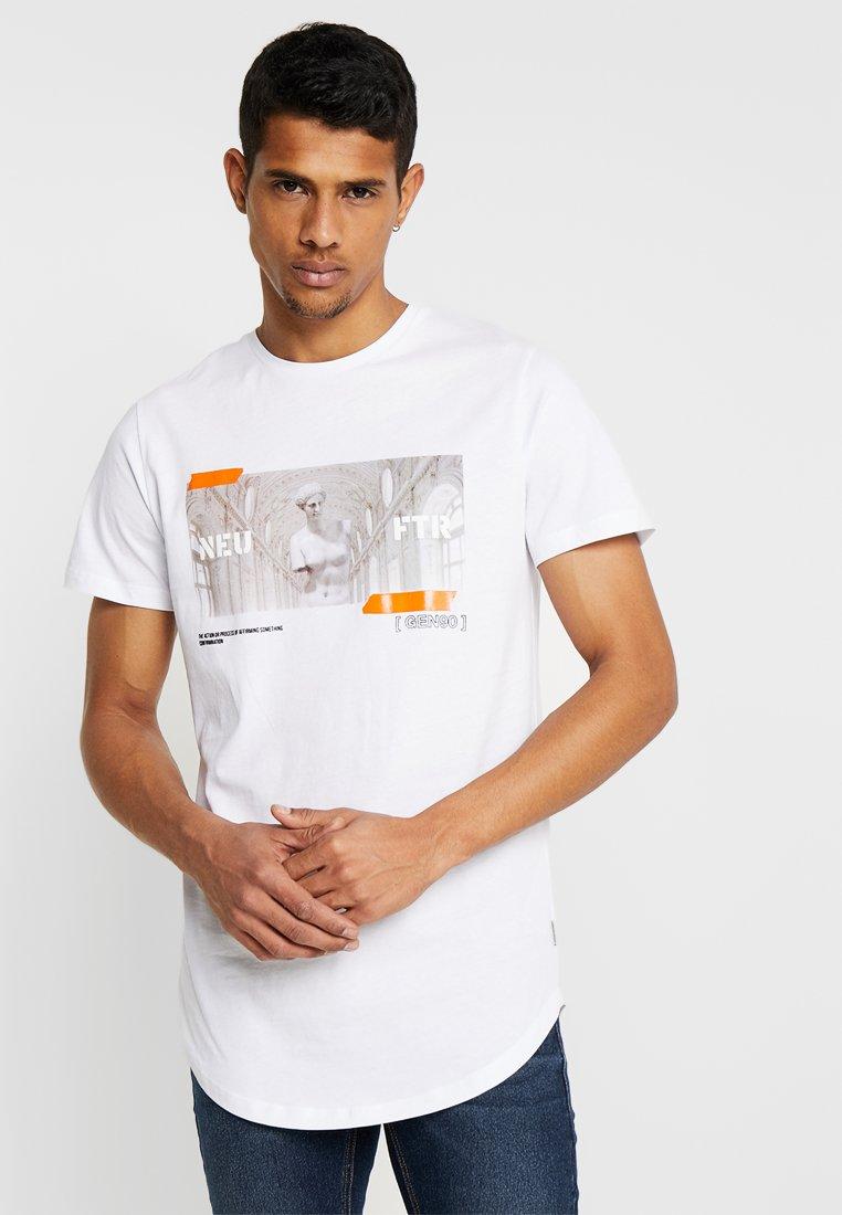 Jack & Jones - JCOROW TEE CREW NECK - T-Shirt print - white