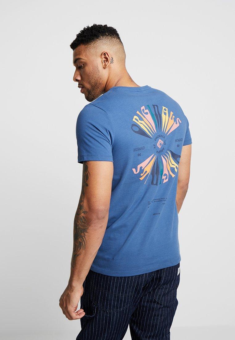 Jack & Jones - JORDESERT  - T-Shirt print - ensign blue