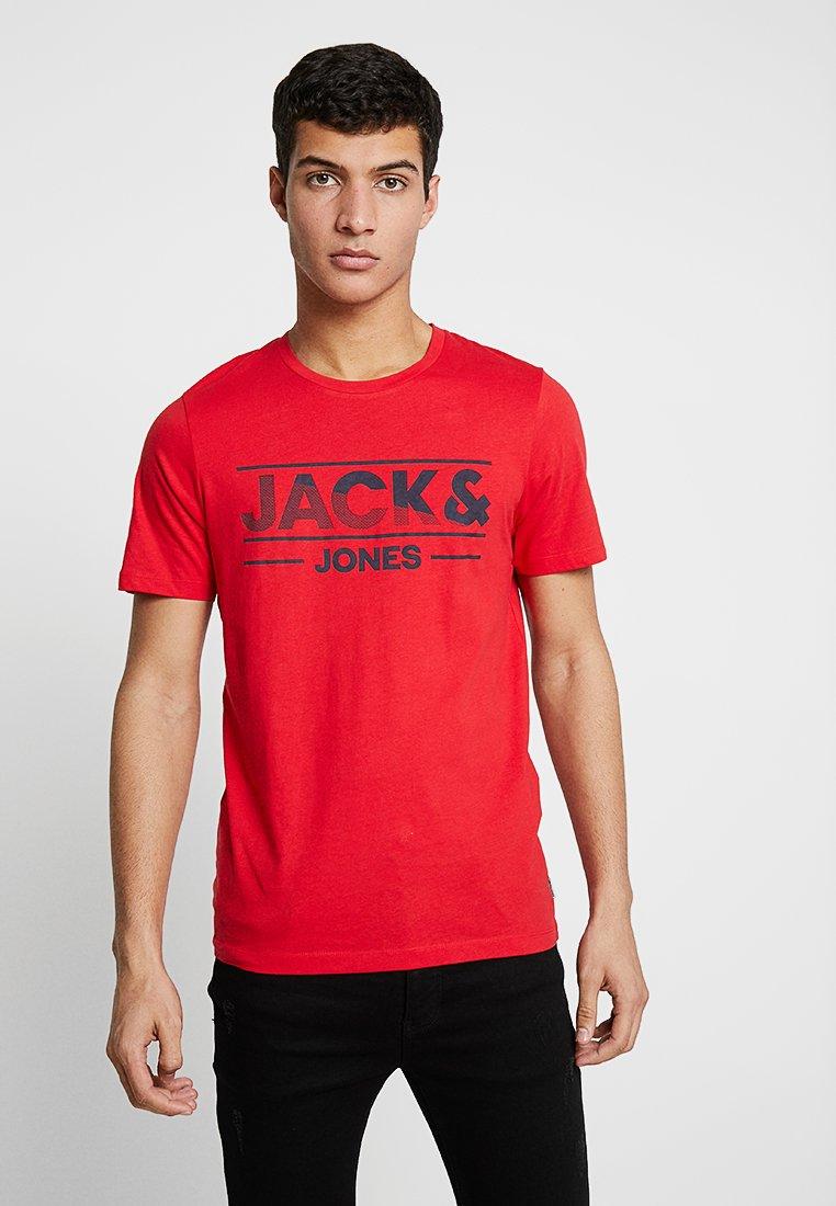 Jack & Jones - JCOTONY TEE CREW NECK - Print T-shirt - chinese red
