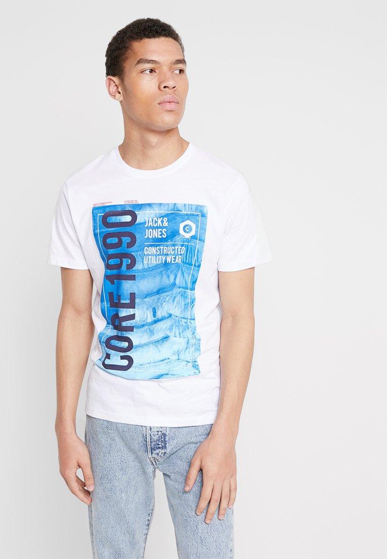Jack & Jones - JCOJORDAN TEE CREW NECK - T-Shirt print - white