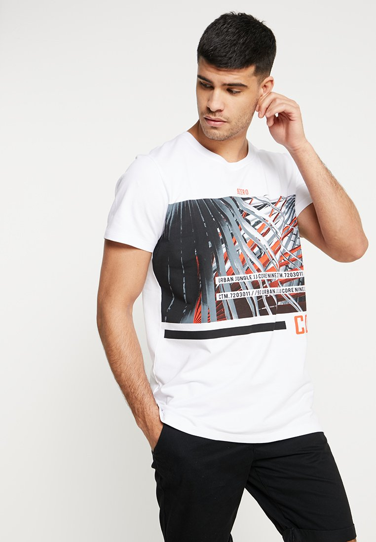 Jack & Jones - JCOLIME TEE CREW NECK - Print T-shirt - white