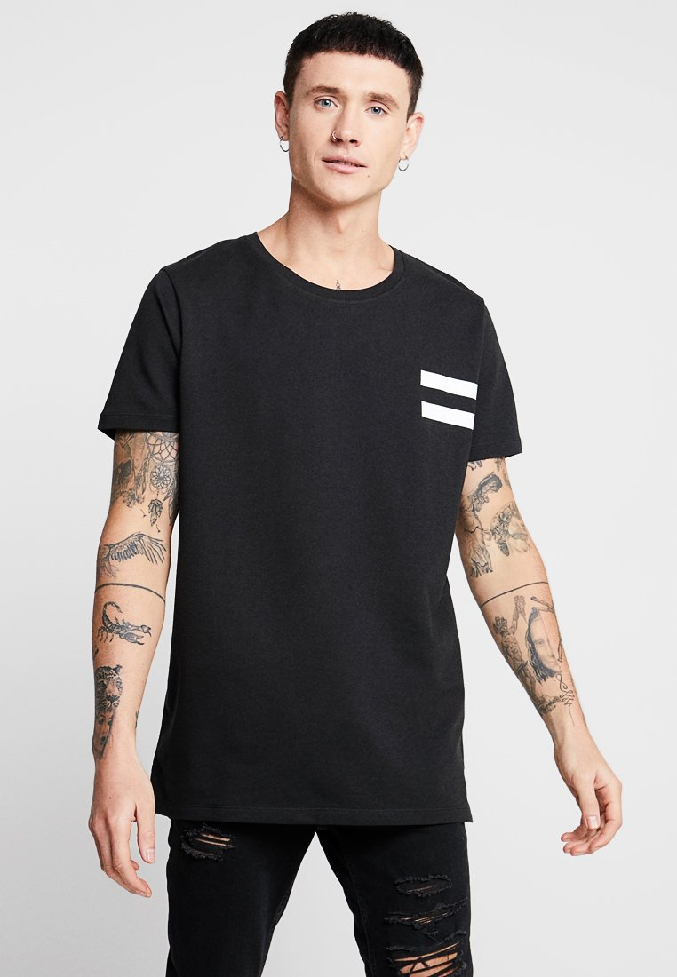 Jack & Jones - JCOLIME TEE CREW NECK - T-Shirt print - black