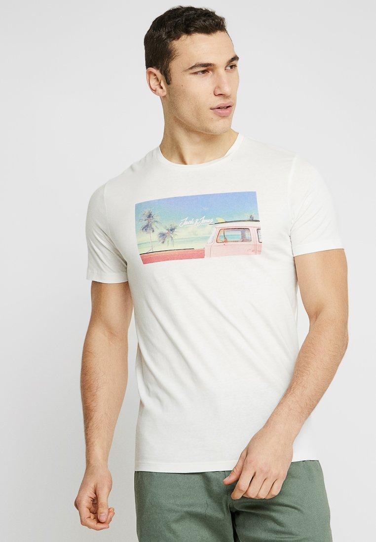 Jack & Jones - JORHOTEL TEE  - T-Shirt print - cloud dancer