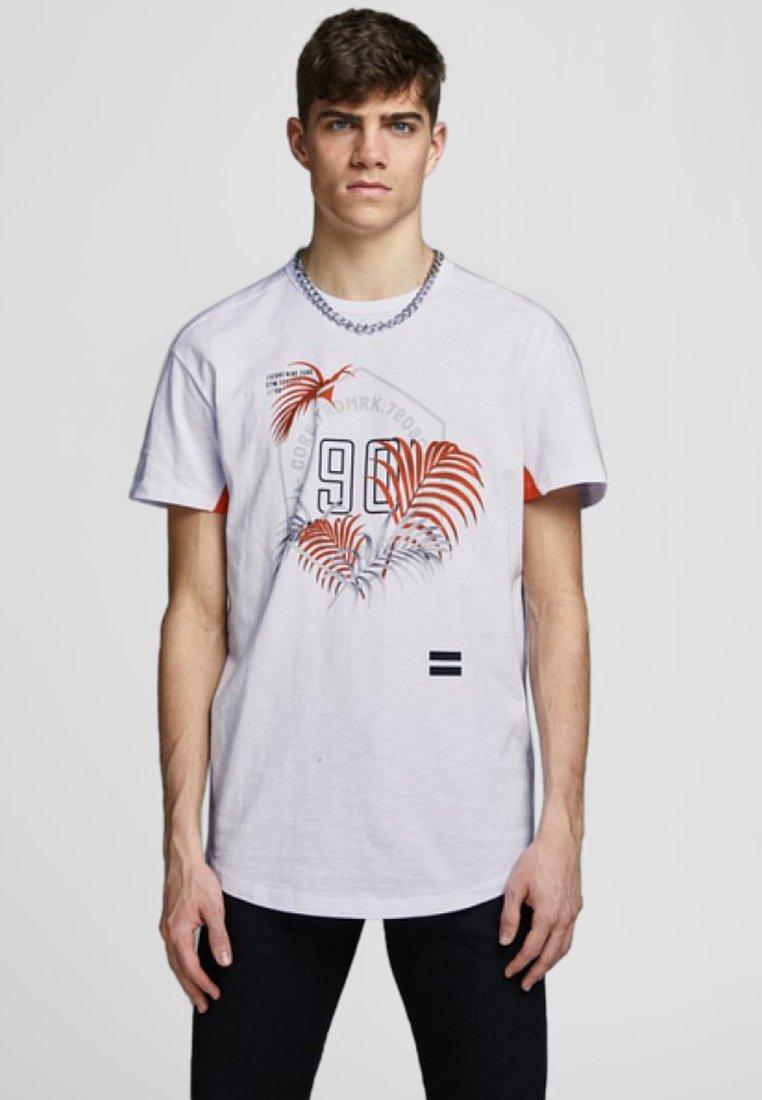 Jack & Jones - JCOLEAF TEE CREW NECK - Print T-shirt - white