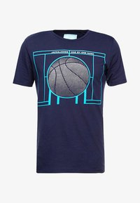 Jack & Jones - JCOFIELD TEE CREW NECK - T-shirt imprimé - maritime blue - 4