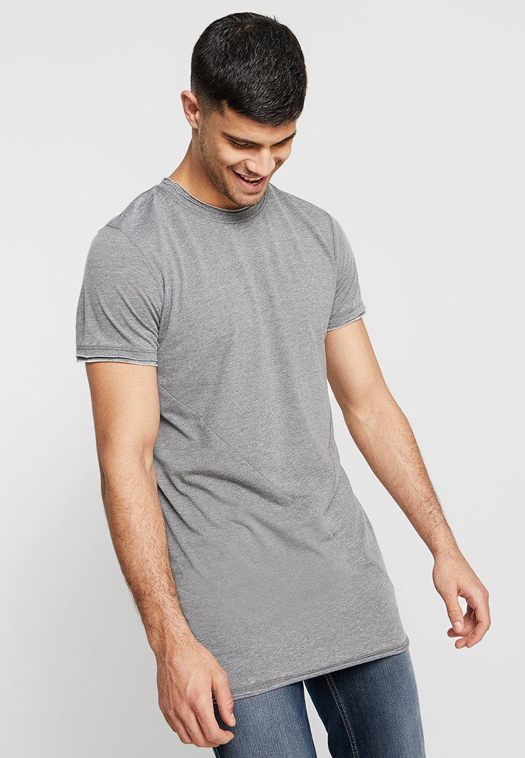 Jack & Jones - JORCUTT TEE CREW NECK - Basic T-shirt - asphalt