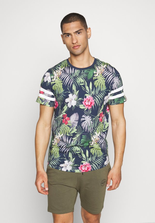 JORDIZ TEE CREW NECK - Printtipaita - navy blazer