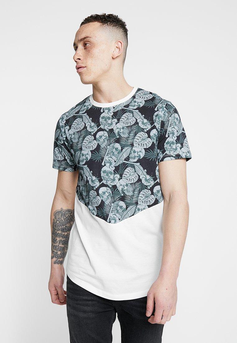 Jack & Jones - JORSKULLBONE TEE CREW NECK REGULAR FIT - T-shirt con stampa - cloud dancer