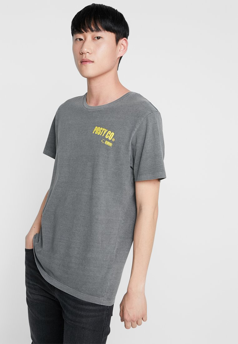 Jack & Jones - JCOPOSTMALONE TEE CREW NECK - T-shirt print - white
