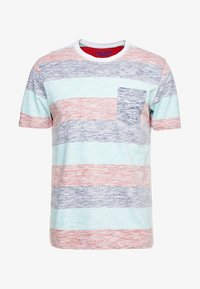 Jack & Jones - JORRANKLY STRIPE TEE CREW NECK REGULAR FIT - Print T-shirt - green bay - 3