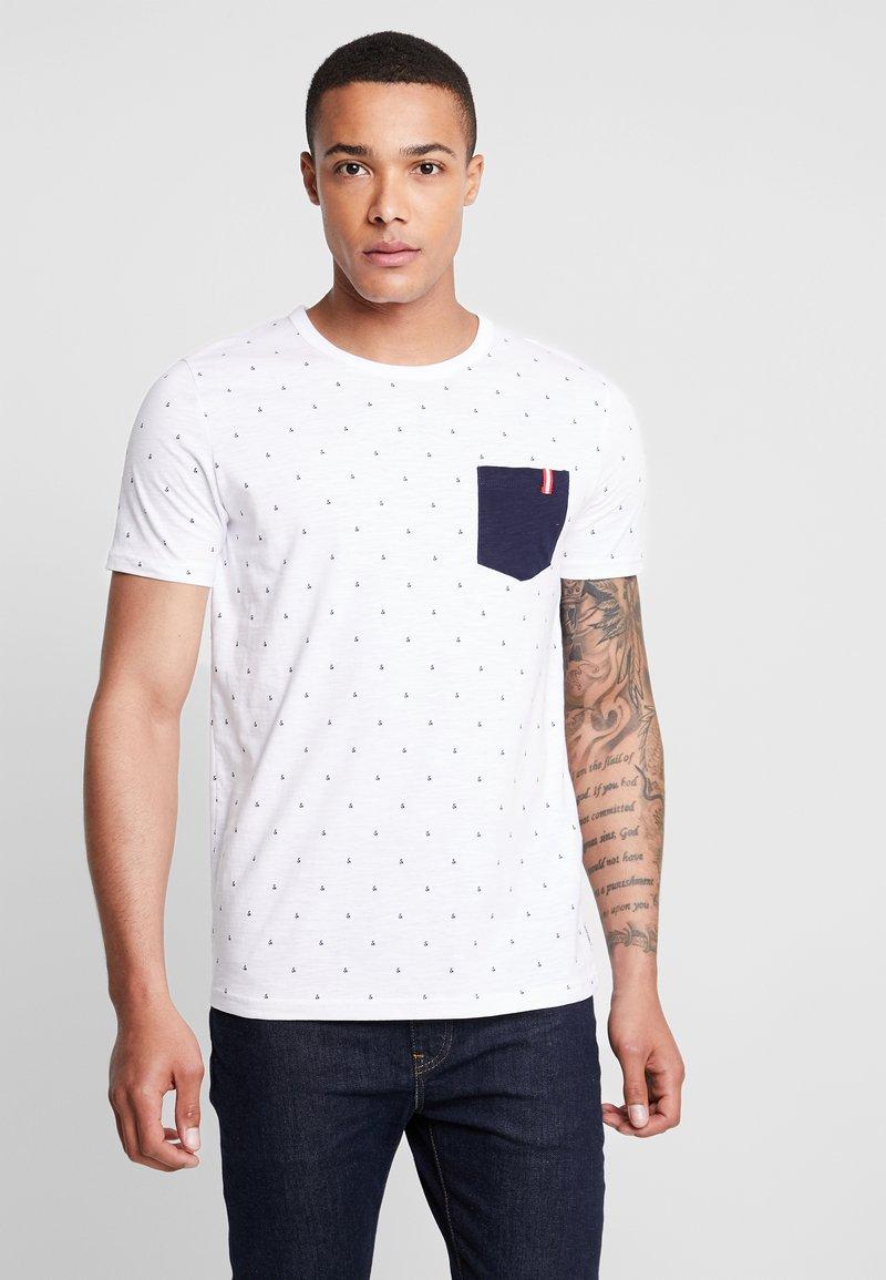 Jack & Jones - JCOAND TEE CREW NECK - Print T-shirt - white