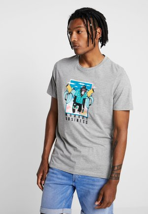 JORFUNNYMAL TEE CREW NECK  - Print T-shirt - light grey melange
