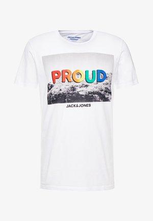 JORPROUDE TEE CREW NECK - T-shirt imprimé - cloud dancer