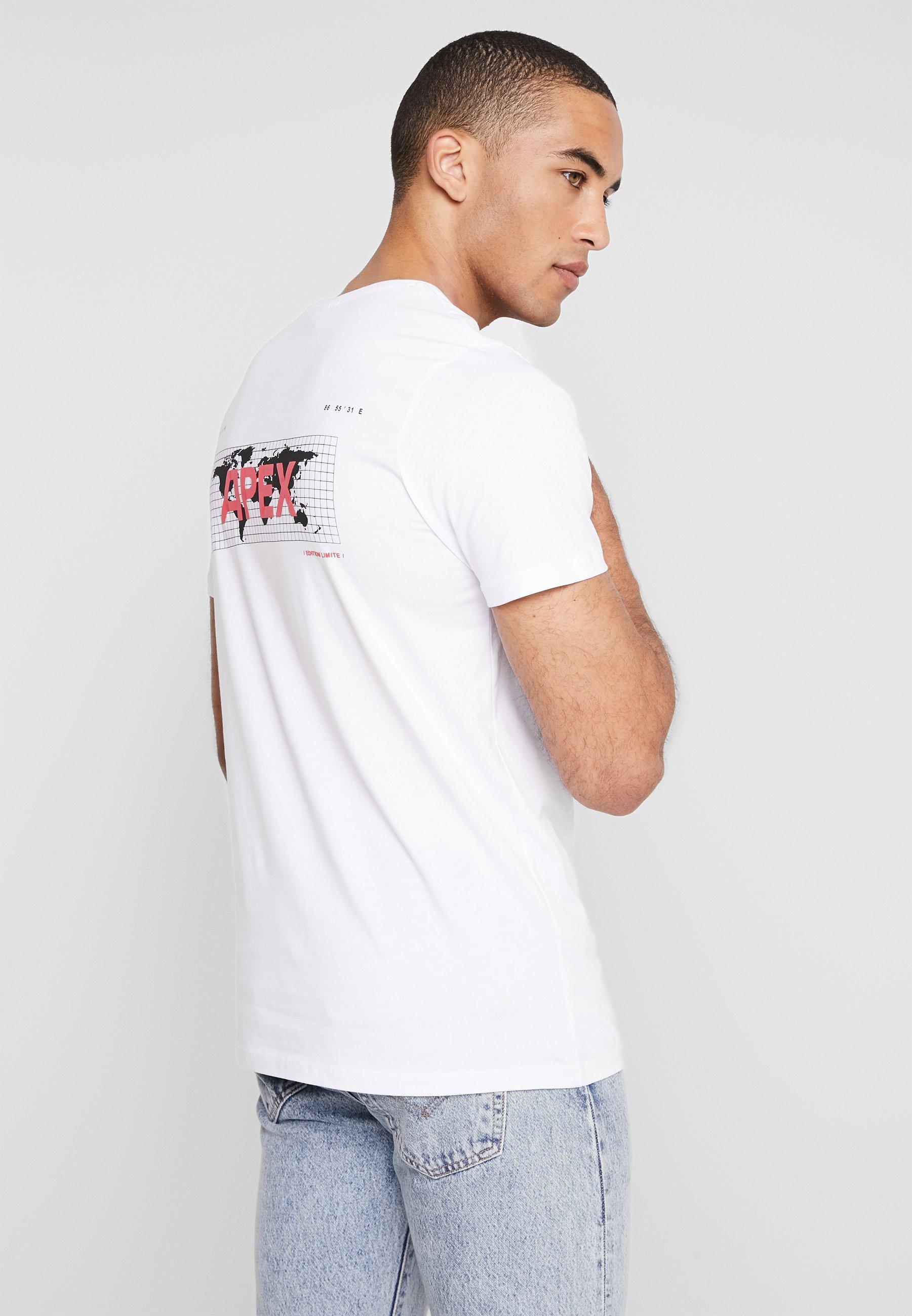shirt NeckT Jackamp; Tee Crew Imprimé Jones Jcoapex White hrxBotdsQC