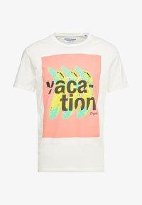 Jack & Jones - JORNEWFUNKI TEE CREW NECK - Print T-shirt - cloud dancer - 3