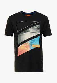 Jack & Jones - JCOAUTUMN TEE CREW NECK  - T-shirts print - black - 4