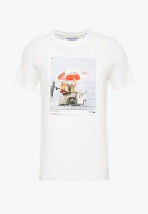 JORENZU TEE CREW NECK - T-shirt print - cloud dancer