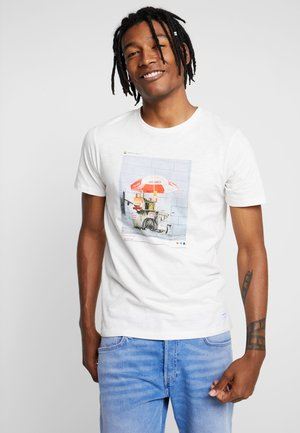 JORENZU TEE CREW NECK - T-shirt print - cloud dancer