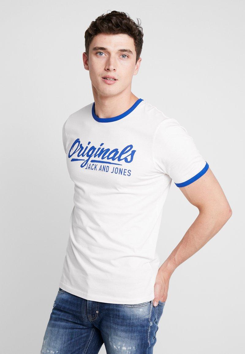 Jack & Jones - JORLEGEND TEE CREW NECK - Print T-shirt - cloud dancer