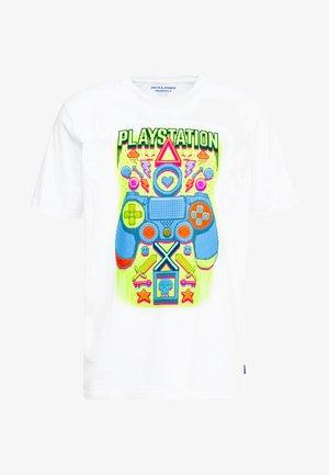JORPLAYSTATION TEE CREW NECK - Camiseta estampada - white