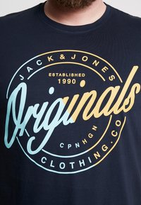 Jack & Jones - JORNEWRIVAL TEE CREW NECK - T-shirt z nadrukiem - total eclipse - 5