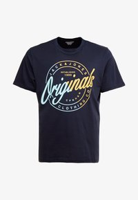 Jack & Jones - JORNEWRIVAL TEE CREW NECK - T-shirt z nadrukiem - total eclipse - 4