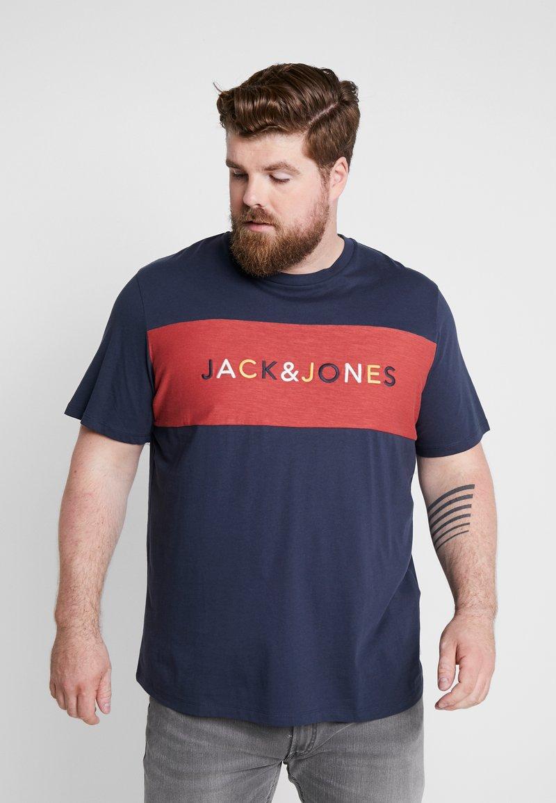 Jack & Jones - JORALBAS TEE CREW NECK - T-shirts print - total eclipse
