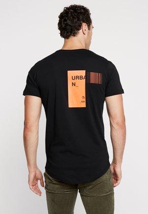 JCORICK TEE CREW NECK - T-Shirt print - black