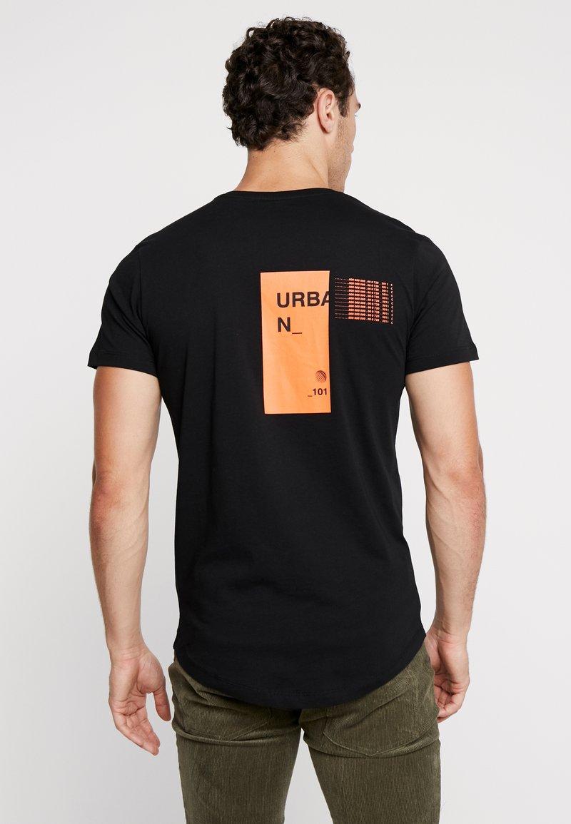 Jack & Jones - JCORICK TEE CREW NECK - T-Shirt print - black