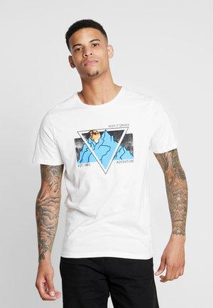 JORADVENTURE TEE CREW NECK - T-shirt print - cloud dancer