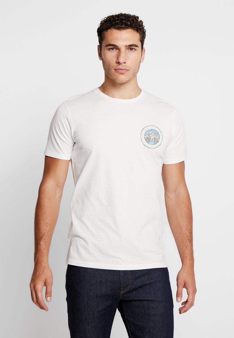 Jack & Jones - JORSUB SOUL TEE CREW NECK   - Print T-shirt - cloud dancer