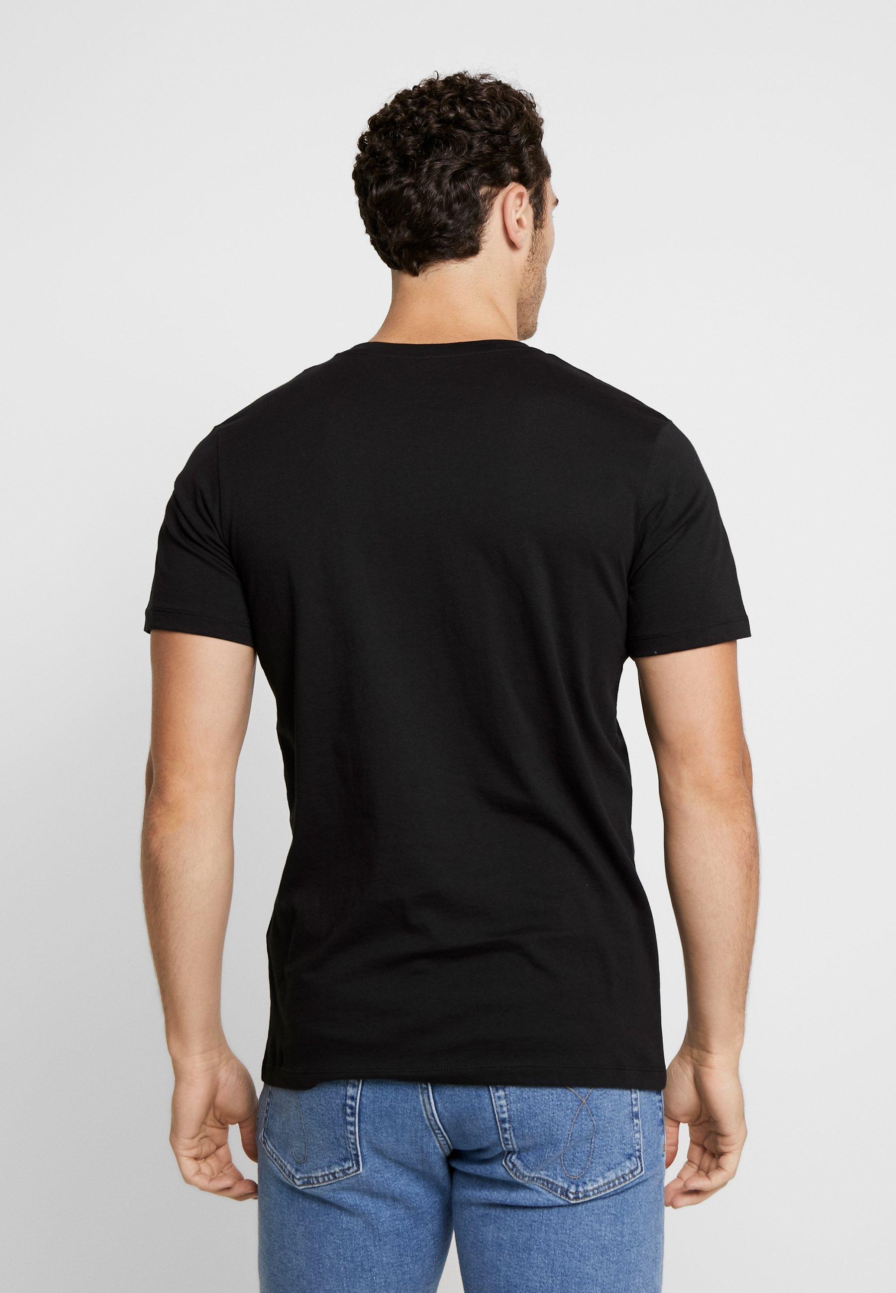shirt Tee Jormelting NeckT Jones Jackamp; Crew Imprimé Black Yb7f6gy