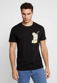 Jack & Jones - JORMELTING TEE CREW NECK  - T-shirt print - black - 0