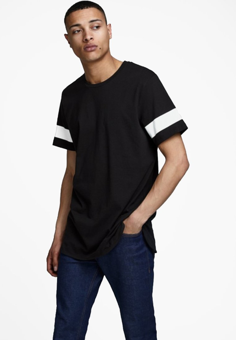 Jack & Jones JCOREFLECT - T-shirt z nadrukiem - black