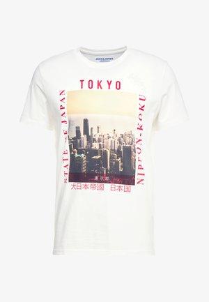 JORSTEIN TEE CREW NECK - T-shirts med print - cloud dancer