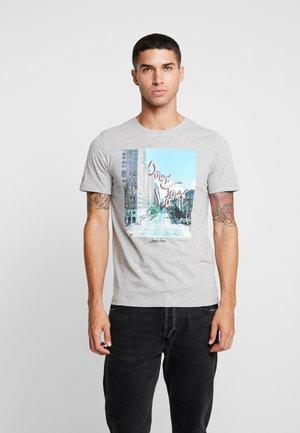 JORMORNING TEE CREW NECK - T-Shirt print - light grey melange