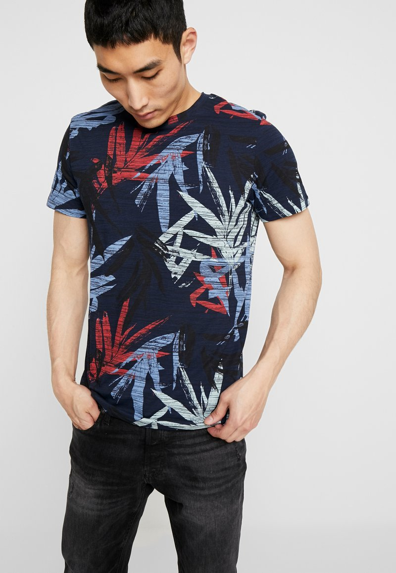 Jack & Jones - JORKALEX TEE CREW NECK - T-shirt med print - navy
