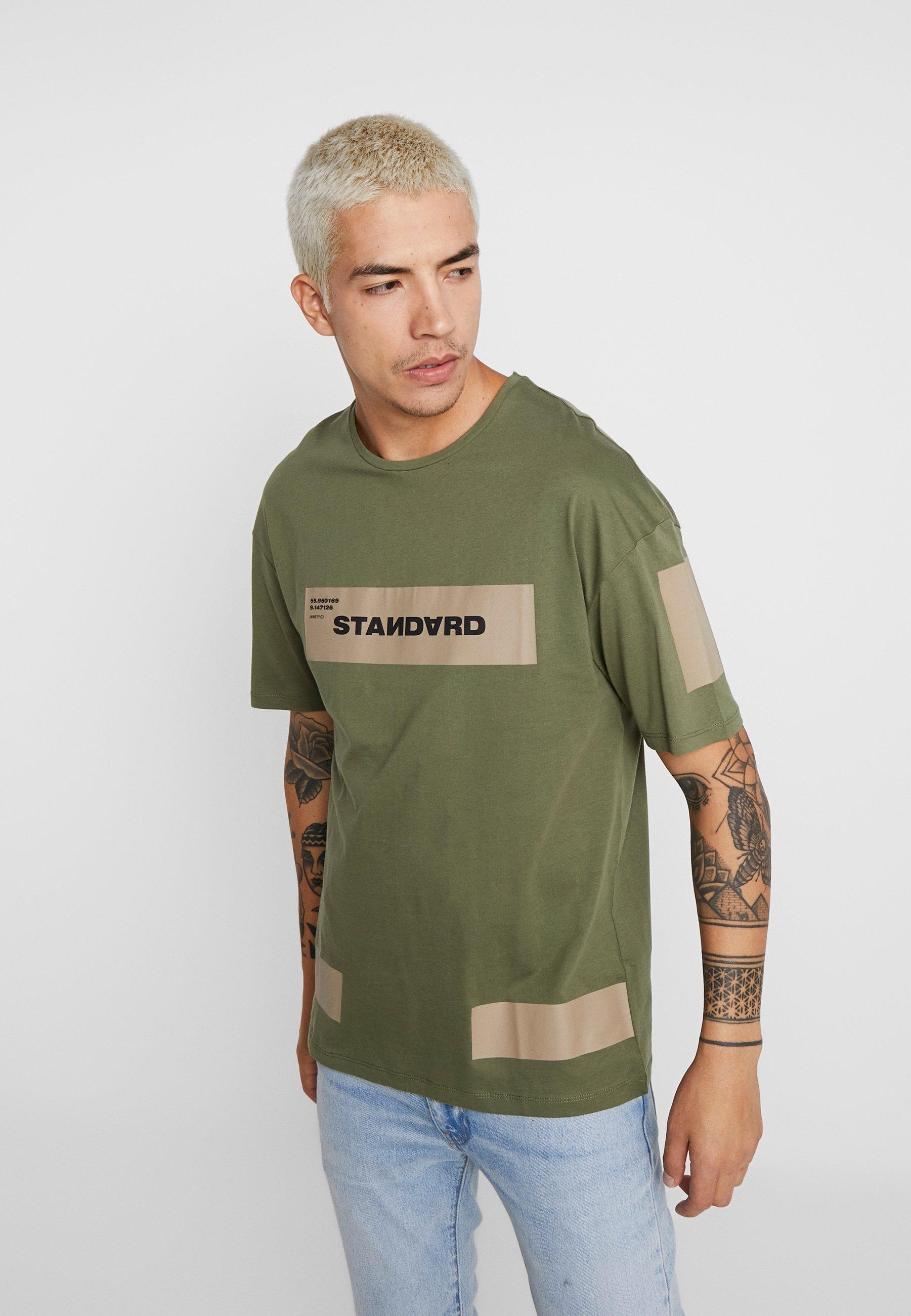 NeckT Jackamp; Imprimé shirt Winter Jcomono Crew Jones Tee Moss BodxrCe
