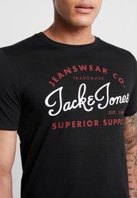 Jack & Jones - JELOGO - T-shirt imprimé - black - 4