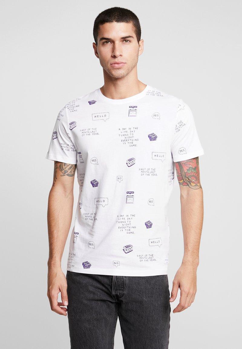 Jack & Jones - JORHUBERT TEE - T-Shirt print - white