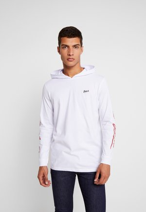 JORTRENT HOOD TEE REGULAR FIT - Sweat à capuche - white