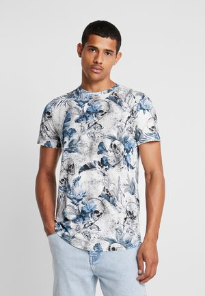 JORNATE TEE CREW NECK - T-shirt med print - cloud dancer