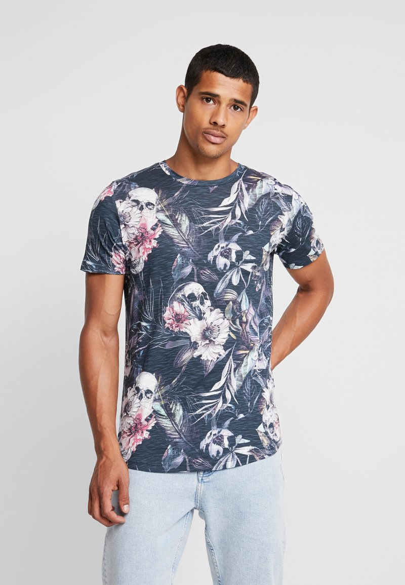 Jack & Jones - JORNATE TEE CREW NECK - T-shirt med print - navy blazer