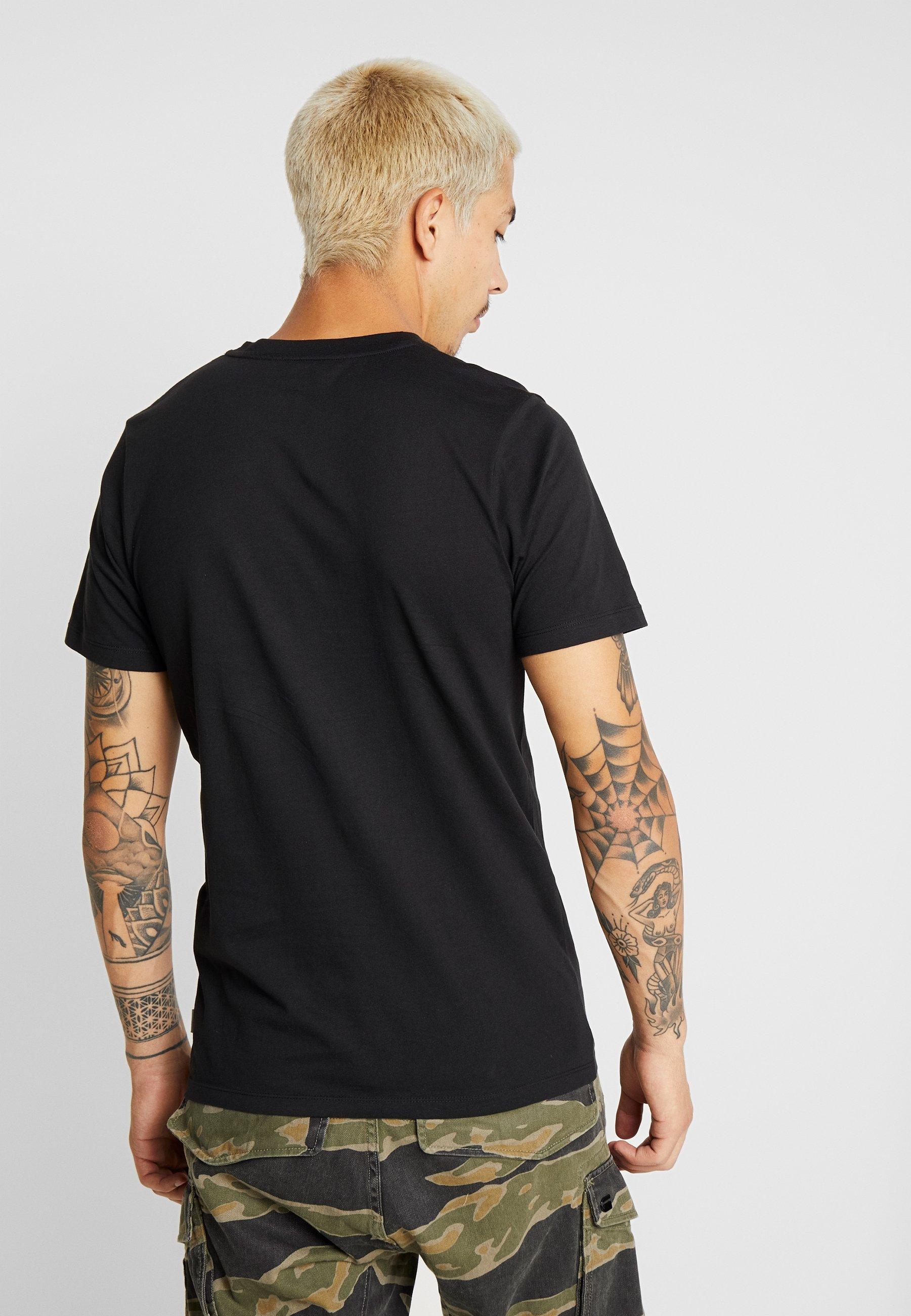 Black Tee Crew Jones Neck Jackamp; Jcolloyd FitT Imprimé Slim shirt uc5lJTFK13