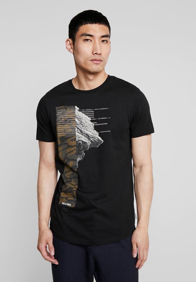 Jack & Jones - JCOMACE TEE  - T-Shirt print - black