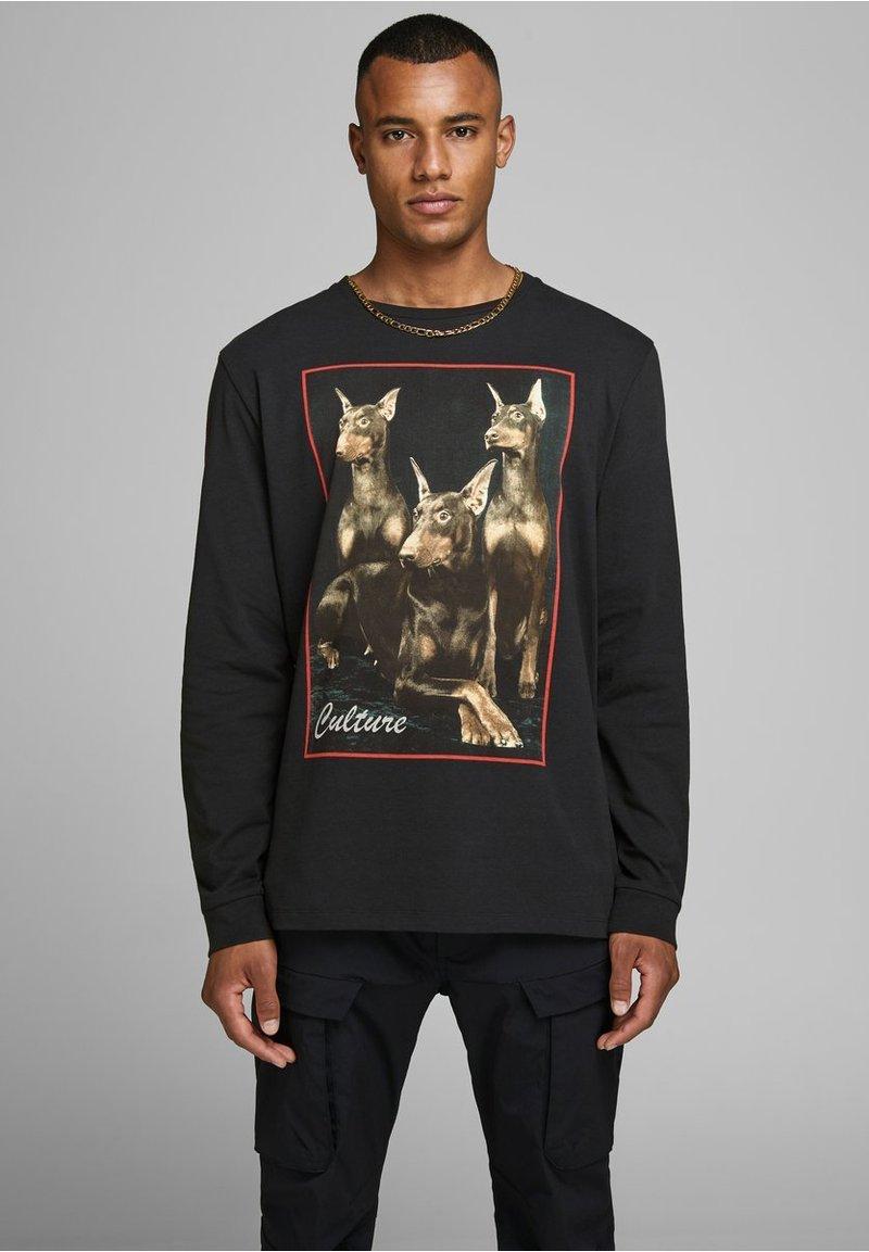 Jack & Jones - JCOMIGOS TEE REGULAR FIT - Camiseta de manga larga - black