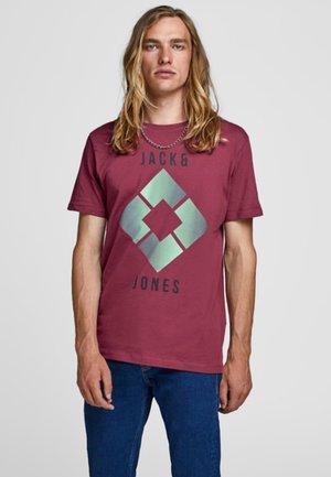 VORN BEDRUCKTES - T-shirt print - rhododendron