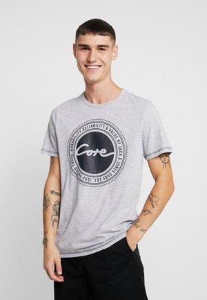 JCOBUBBLE TEE CREW NECK SLIM FIT - T-shirt print - light grey melange