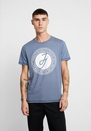 JCOBUBBLE TEE CREW NECK SLIM FIT - T-shirt print - china blue